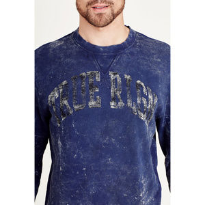 True Religion Men's Crew Neck Pullover Sweatshirt